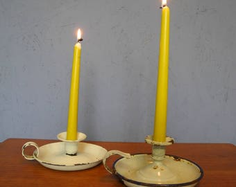 Shabby Chic candle holder, set of 2