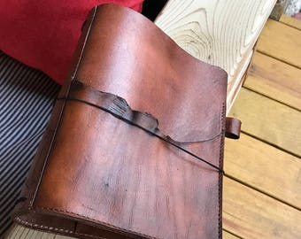 Composition Size Travelers Notebook in Deep Sandalwood, Pockets, Reinforced Spine