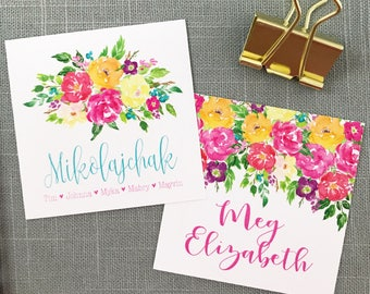 Gift enclosure cards etsy family gift tags gift enclosure cards monogram gift tags floral gift tags negle Choice Image