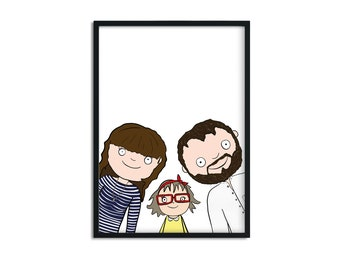 Group Personalised Family Portraits