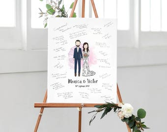 Custom Portrait Wedding Signature Sign