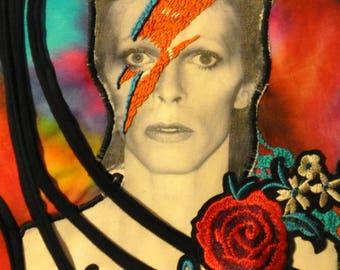 David Bowie tribute denim jacket