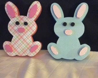 Bunnies, rabbits, Easter decorations, Easter decor