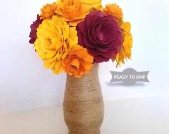 Paper Flower Arrangement | Paper flowers in vase | Gift for her