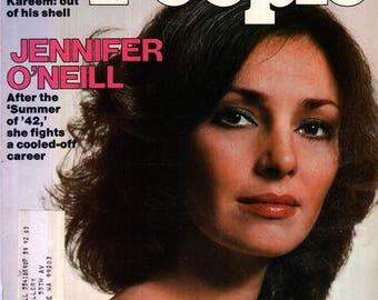 Jennifer O'Neill People Magazine November 24, 1975 Issue