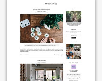 LIMITED! Mary Anne | Responsive Minimalist Premade Blogger Template