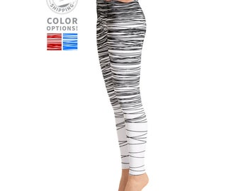 Black & White Scribble Leggings | Workout Leggings | Stretchy Leggings | Pilates Leggings | Yoga Tights | Yogawear | Yogagear | Loopy Jayne