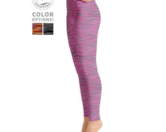 Pink & Gray Heather Leggings | Workout Leggings | Womens Leggings | Yoga Tights | Dance Leggings | Best Leggings | Yogawear | Loopy Jayne