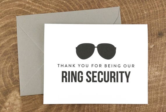 thank you for being our ring security card thank you for
