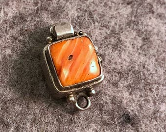 Spiny Oyster and Sterling Silver Box Clasp by Jess Imports