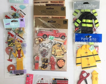 Fire Fighter Scrapbook DImensional Sticker Collection / over 9 packages