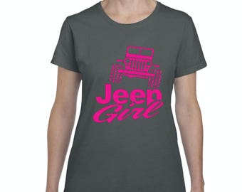 Jeep Girl Tshirt, Jeep Girl Shirt, Jeep Girl Gifts for Christmas Birthday, Jeep Girl Bff Gift Graphic T Shirt Tee Clothes For Women