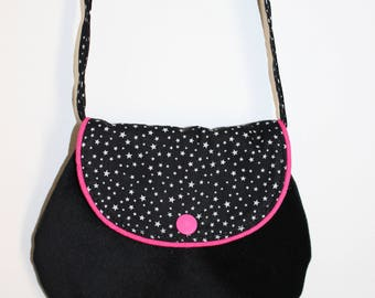 Small fancy bag for girl pink and black