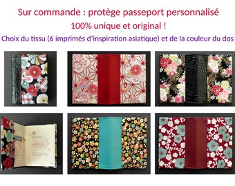 To order: protects Passport Asian-inspired and faux leather - gift idea