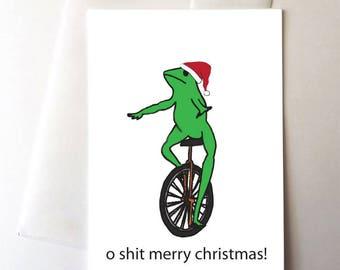 Dat Boi Merry Christmas Greeting Card, Funny, Meme