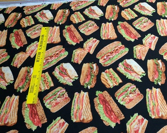 Food-Sandwiches-Cotton Fabric from Timeless Treasures
