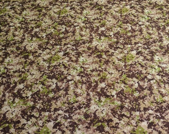 Brown Camouflage Cotton Fabric