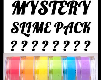 Limited Edition Slimes ** Pick-Your-Size Mystery Slime Pack with Extras  *BORAX FREE SLIME* SlimeyCreationsPDX