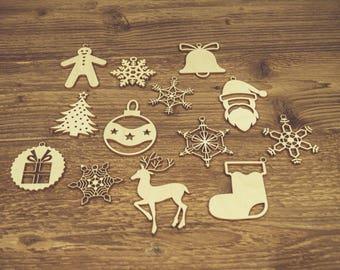 Rustic Ornaments, Christmas Bauble, Christmas Decorations, Christmas Tree Ornaments, Girlanda, Wooden Christmas Decoration, Handmade