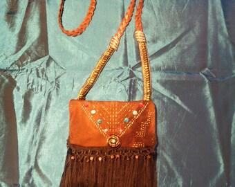 APONI (butterfly) shoulder bag with fringe