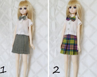 BJD, MSD, Doll outfit, Doll clothes, school girl uniform.