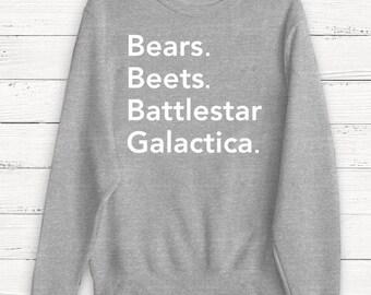 The Office - Dwight Schrute - The Office Sweater - Bears Beets Battlestar Galactica - Michael Scott - Jim Halpert - Humor