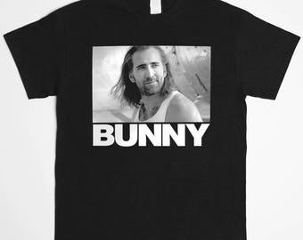 Bunny Nic Cage T-Shirt - Con Air Cyrus Daddy Nicholas Cage 1990's Gen X Cult Classic TV Show Tee Shirt - T-Shirt Mens Ladies Womens