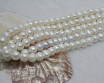 11-12mm potato shape feshwater pearls necklace