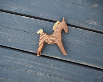 Antique wood horse, antique nursery, antique toy, handmade wood toy, wood horse, kids room decor, natural decor, Scandinavian design, baby