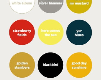 Beatles inspired paint chart