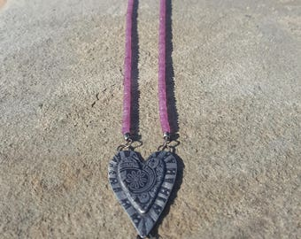 Heart to Heart Ruby Necklace