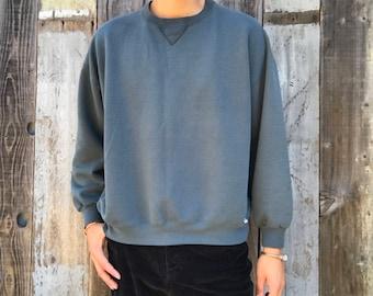 90s Sweatshirt   Classic Russell Sweatshirt   Mens Sweatshirt   Vintage Sweatshirt   Mens Large Sweatshirt   Faded Green Sweatshirt