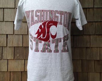 90s Vintage Washington State Cougars T shirt - Medium - University