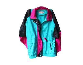 Neon Windbreaker Jacket