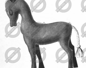 Vintage 50s Felted Toy Pony Pattern Instant Download PDF