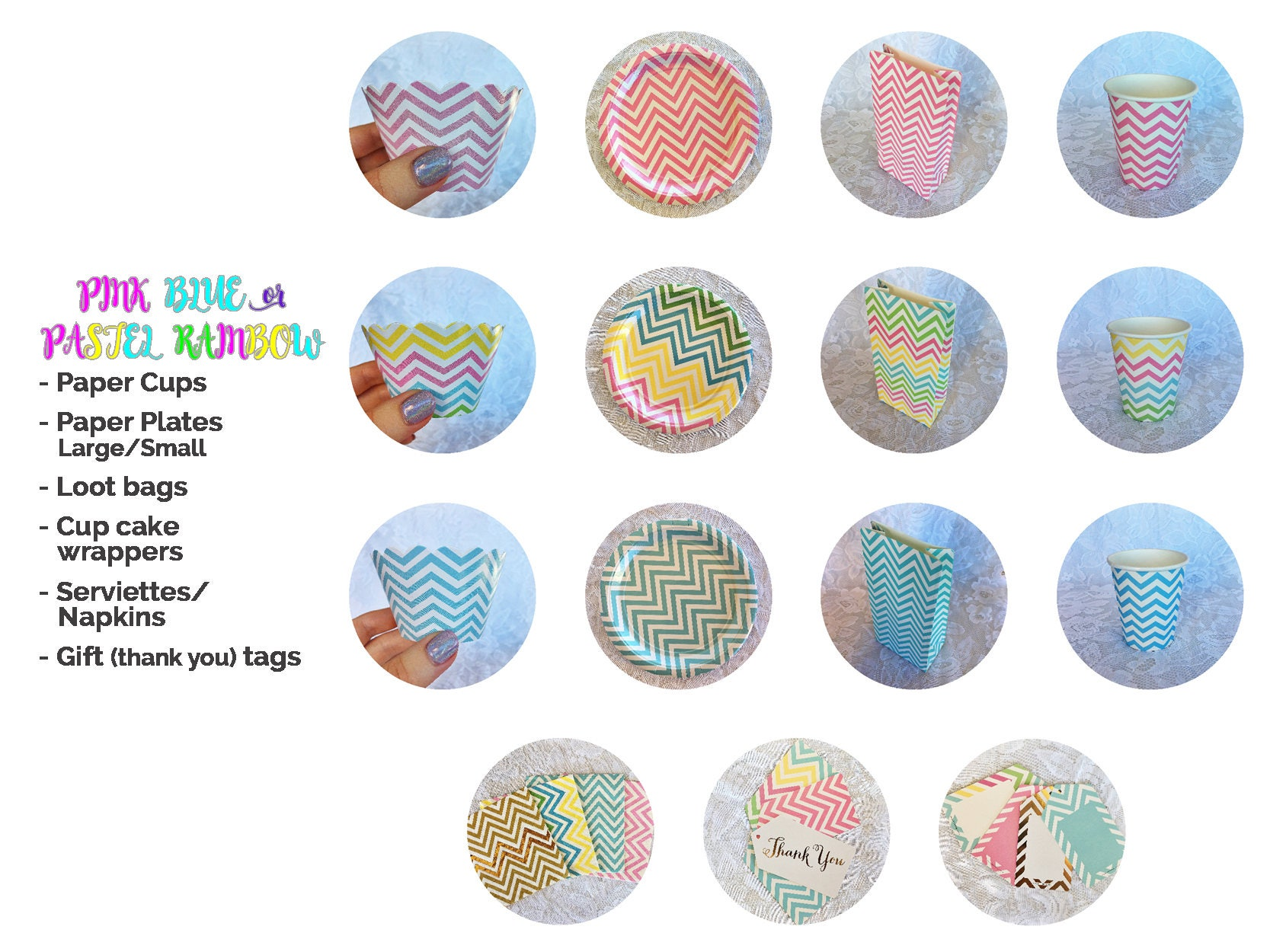 Inidual Party Items (Chevron Pink Blue or Pastel) Paper plates cups  sc 1 st  shopping Designer Womens Mens and Kids Athletic Shoes Boots ... & Inidual Party Items: (Chevron Pink Blue or Pastel) Paper plates ...