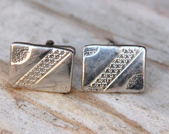 gifts|for dad|cufflinks silver cufflinks groom cufflinks Soviet cufflink vintage Jewelry cuff links For men Jewelry Men cuff links old