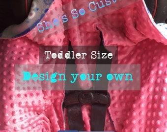 Hooded Car Seat Blanket, Car Seat Snuggie, Custom Car Seat Blanket, Travel Blanket, Toddler Blanket, Car Seat Swaddle, Fleece, Stroller
