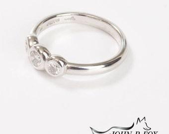 Chubbie Three Diamond Engagement Ring. John Fox