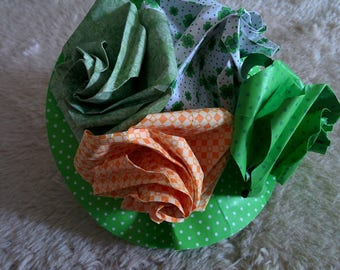 4 real origami roses bouquet