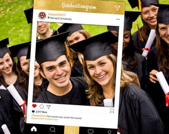 Graduation Instagram Frame Photo Booth Prop, Bespoke Design, Personalised Frames, Digital Download, Instagram Photo Prop