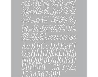 A4 Alphabet Stencil,bullet journal stencil,Stencil for Bullet Journal, Banner Stencil,Bullet Journal Stencil,Stencil planner, bujo stencil