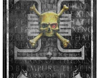 40k lifesize banner, Death Watch