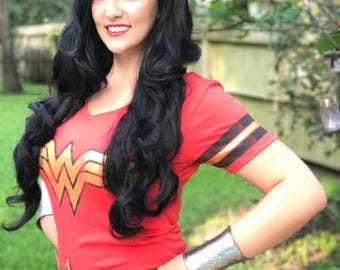 Wonder Woman Wig - Extra-long movie-style!