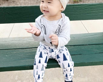 Organic christmas legging - baby leggings -toddler leggings - unisex baby - baby shower gift