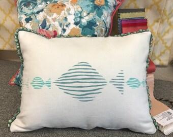 Hand Painted Marine Fish Pillow