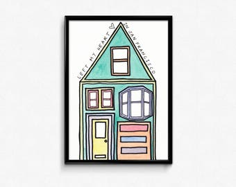Left My Heart in San Francisco, Limited Edition Art Print