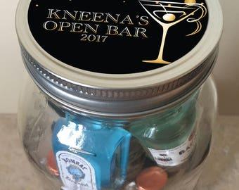 Minibar in a Jar - Gold Open Bar - Customizable