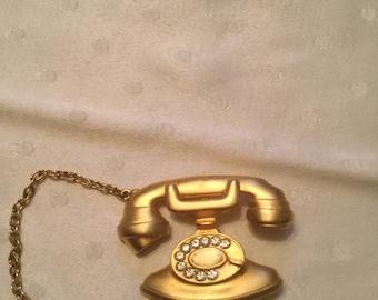 Vintage Jonette JJ phone pin