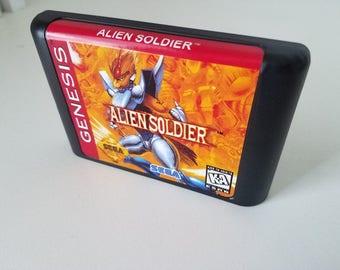 Alien Soldier English Version Repro  - Sega Genesis - Custom Game
